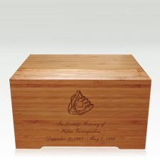 Glove Bamboo Distinction Green Cremation Urn