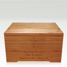 Cross Bamboo Distinction Green Cremation Urn