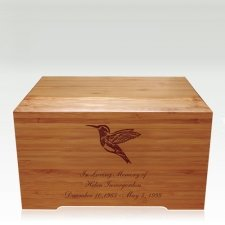 Hummingbird Bamboo Distinction Green Cremation Urn