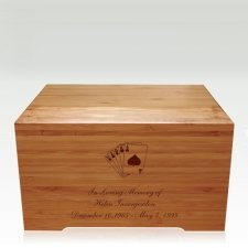 Cards Bamboo Distinction Green Cremation Urn