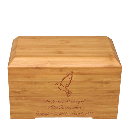 Dove Bamboo Essence Cremation Urn