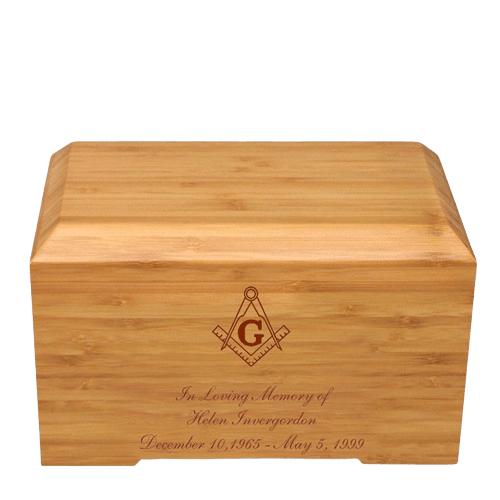 Mason Bamboo Essence Cremation Urn