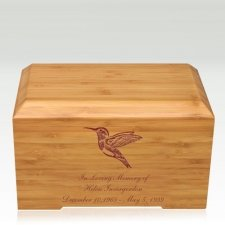 Hummingbird Bamboo Essence Cremation Urn