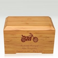 Motorcycle Bamboo Essence Cremation Urn
