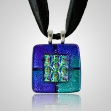 Purple Green Memorial Ashes Pendants