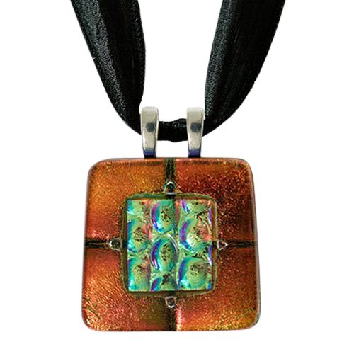 Rusty Red Memorial Ashes Pendants