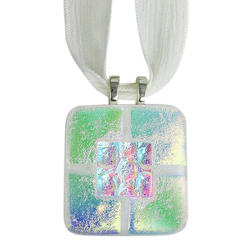 Clear Green Memorial Ashes Pendants