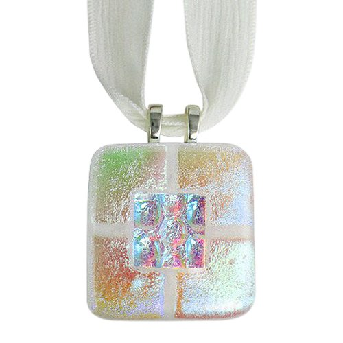 Clear Gold Memorial Ashes Pendants