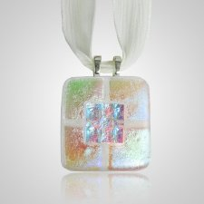 Clear Gold Memorial Ashes Pendant