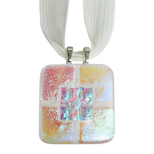 Clear Pink Memorial Ashes Pendants