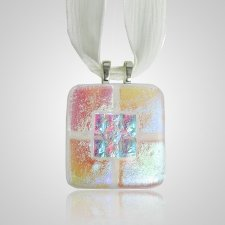 Clear Pink Memorial Ashes Pendant