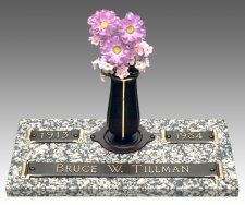 Scroll Devotion Grave Marker