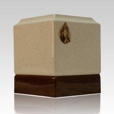 Christian Ceramic Cremation Urn
