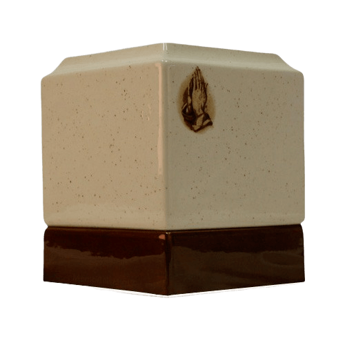 Christian Ceramic Cremation Urn
