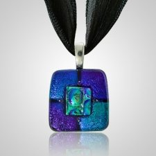 Purple Green Small Memorial Ashes Pendant