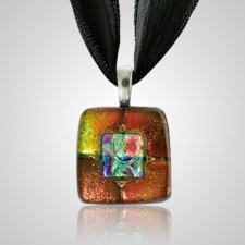 Rusty Red Small Memorial Ashes Pendant