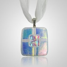 Clear Blue Small Memorial Ashes Pendant