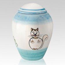 Paffuto Ceramic Cat Urn