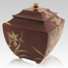 Pagoda Burgundy Cremation Urn