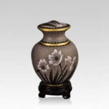 Palace Lily Cloisonne Cremation Urn