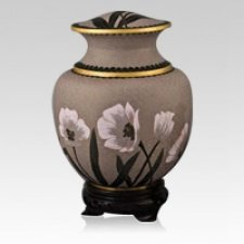 Palace Lily Cloisonne Urn