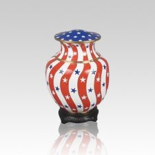 Palace Patriotic Small Cloisonne Urn