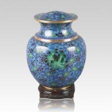 Palace Blue Medium Cloisonne Urn
