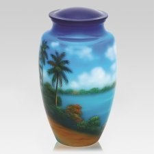 Palm Paradise Cremation Urn
