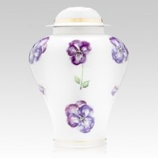 Pansy Porcelain Cremation Urns