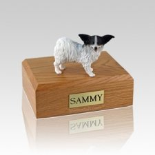 Papillon Black & White Medium Dog Urn