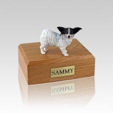 Papillon Black & White Small Dog Urn