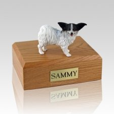 Papillon Black & White X Large Dog Urn