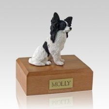 Papillon Black Dog Urns