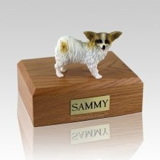 Papillon Brown & White X Large Dog Urn