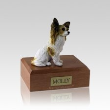 Papillon Brown Small Dog Urn