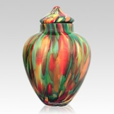 Paradise Glass Pet Urn