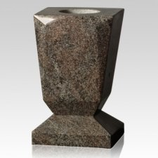 Mountain Green Beveled Granite Vase