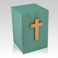 Patina Cross Childrens Cremation Urn