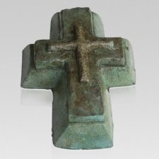 Patina Cross Keepsake Urn