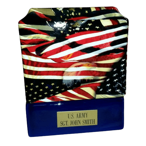 Patriot Ceramic Military Urn