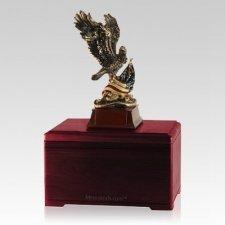 Patriot Eagle Rosewood Cremation Urn