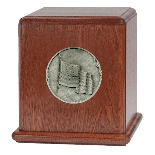Patriot Mahogany Wood Urn