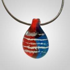 Patriotic Cremation Ash Pendant