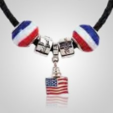 Patriotic Cremation Charm Set