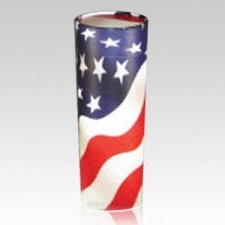 Patriotic Pet Scattering Urn