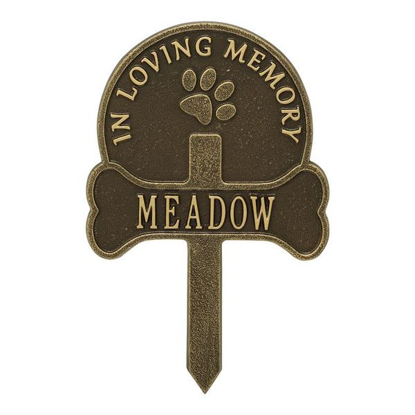 Paw And Bone Customized Dedication Plaques
