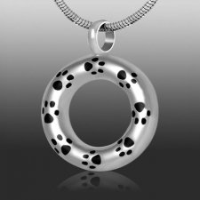 Paw Circle Cremation Necklace
