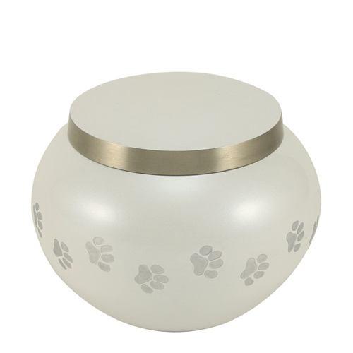 Paw Print Pearl Medium Pet Urn