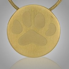 Paw Signet Bronze Keepsake Pendant