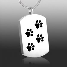 Paw Tag Cremation Necklace